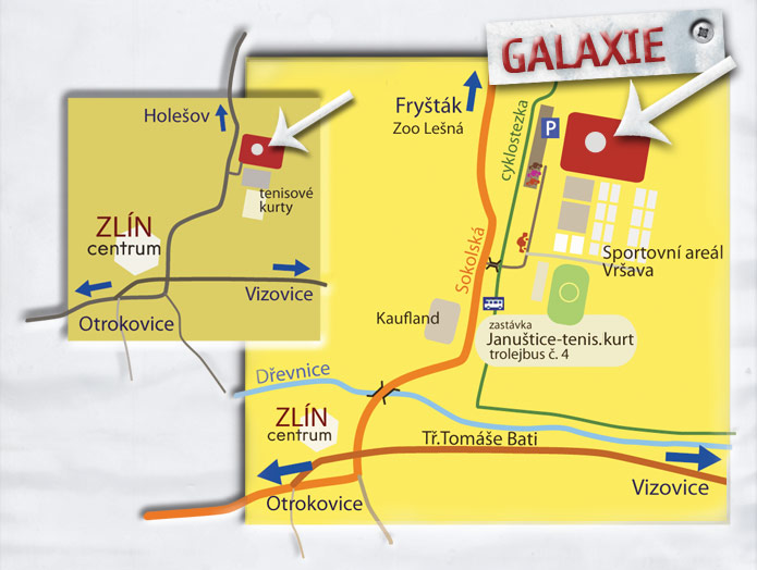 Map to Toboga Galaxie Zlín